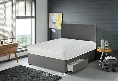 Memory Foam Divan Bed Includes Memory Mattress + Headboard 3Ft 4Ft6 Double 5Ft