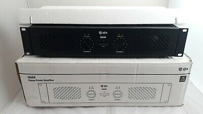 QTX Q600 Series Stereo Power Amplifier - New with Original Box - Only Opened