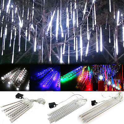 50cm 320 led Falling Star Rain Drop Icicle Meteor Shower Snow Fall Fairy Light
