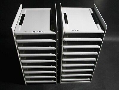 2 x Metal 9 Bay Assay / Culture Plate Storage Towers (UK)