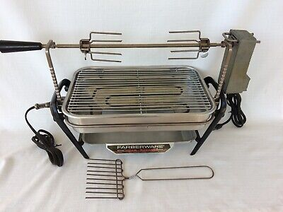 Vintage Farberware Open Hearth Indoor Grill & Rotisserie made in USA