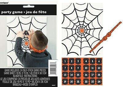 Halloween Pin The Spider On The Web Game FOR 24 GUESTS