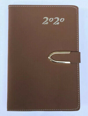 2020 Daily Planner Journal Calendar Organizer Tabbed /Magnetic Closure BROWN 5x8