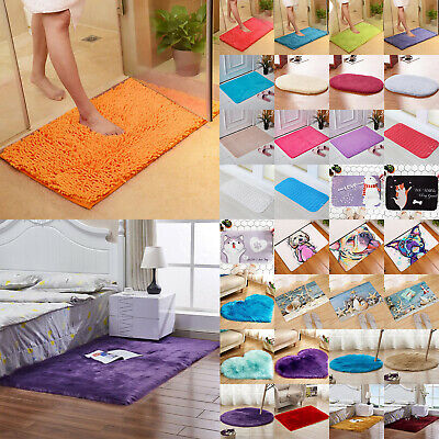 Fluffy Rugs Shaggy Area Rug Anti-Skid Bedroom Carpet Floor Mat Home Dining Room