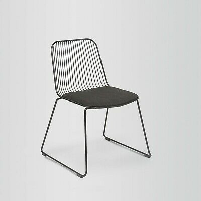 Fusionwell String Easy Wire Chair with Fabric Upholstered Seat (2 Colours)