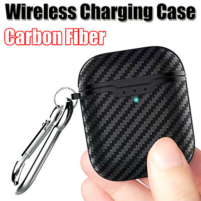 Carbon Fiber Soft Case For AirPods 2nd Generation 2019 Wireless Charging TOCAK7T