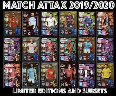 Match Attax 2019/20 Limited Edition And Subset Cards 19/20