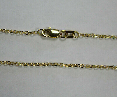 "14kt 14K Yellow or White Gold 1.5mm Diamond Cut Adjustable Cable Chain 16"" 18"""