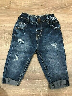 Baby Boys Next Jeans Trousers Size 6-9 Months Blue Babies Smart cute