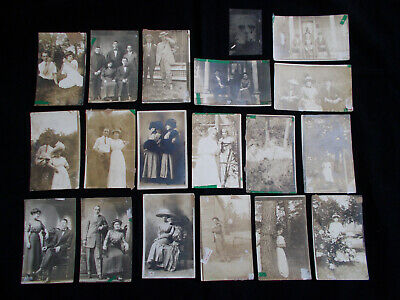 Lot of 19 Antique Photographs Snapshots Picture Post Cards Portraits Hobo