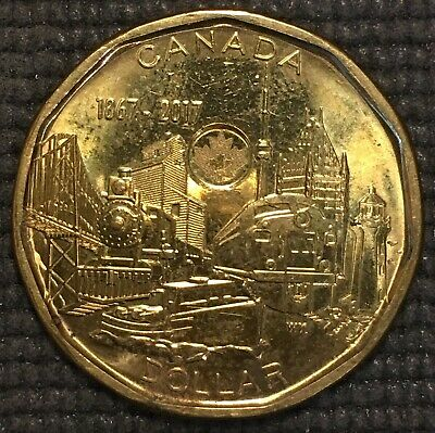 2017 Canada 1 One Dollar Loonie  Canadian Coin, free combined shipping
