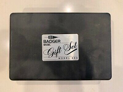 Badger Model 200 Gift Set Airbrush With Ink & Hard Box Never Used New