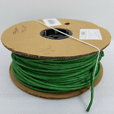 "Large Roll Twisted Craft Bow Paper Twist Kelly Green 4 1/2"" x Estimated 180 Yds"