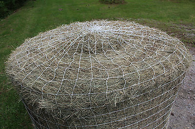 "Horse Hay Round Bale Net Feeder 4"" Save $$ Eliminates Waste Fits 6' x 6' Bales"