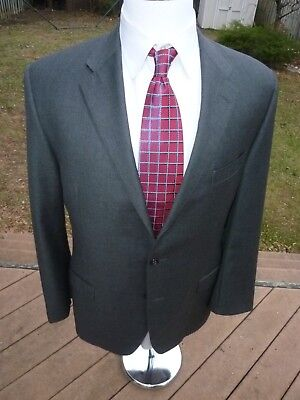 RECENT! Hickey Freeman Addison Suit 44L SLIM GRAY 35Wx30 Dual Vent WOOL Flat Fro