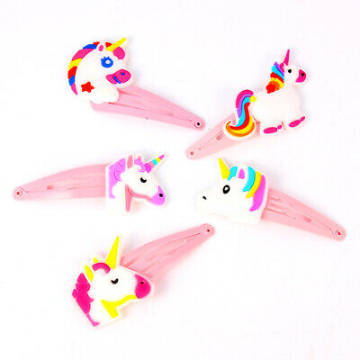 Unicorn Baby Girls' Hair Clips Cartoon Hairgrip Kids Headbands Hairpin Headwear