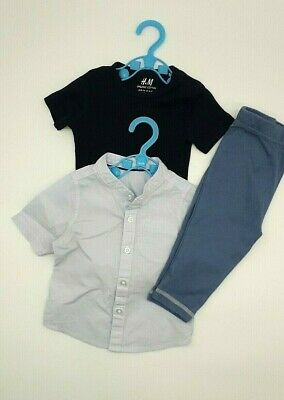 Baby Boy Clothes 6-9 Months Outfit H&M Organic Cotton Bodysuit Shirt Bottoms