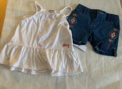 Girls Size 2T (2 Years) Denim Shorts & Top Set - Nwt