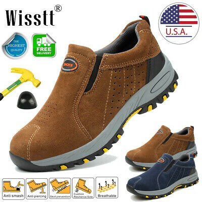 Men's Steel Toe Caps Work Boots Oxford Safety Shoes Indestructible Construction