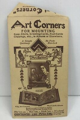 Vintage Art Corners For Mounting 1944 Photos Greeting Cards