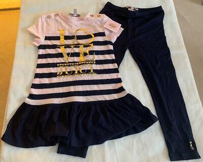 JUICY COUTURE  Girls 4 YEARS STRIPED DRESS & LEGGINGS OUTFIT/SET- NWT