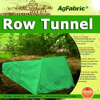 Grown Tunnel For Plants with Dark Green Fleece Cover Guard Seed Germination