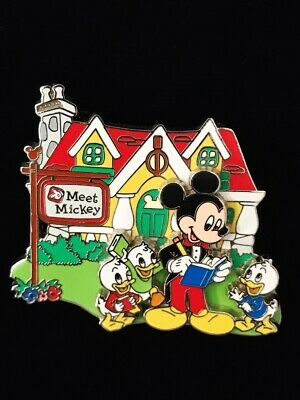 Disney Where The Streets Have Character Duck Nephews Meet Mickey Pin #55799
