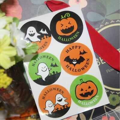 10 Sheets Halloween Icons Stickers Gift Treat Box Bag Seal Label Tag