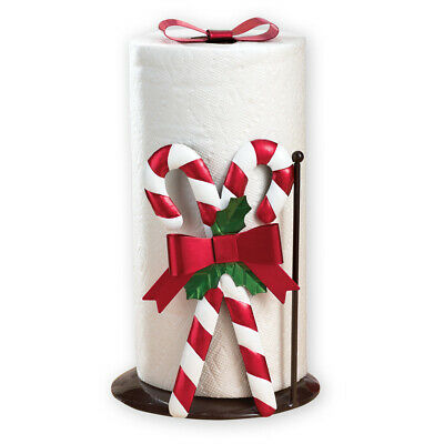 Collections Etc Candy Cane Christmas Paper Towel Holder