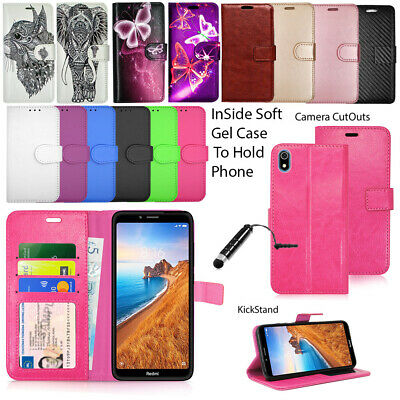 For Xiaomi Redmi 7 7A Phone Case Wallet Leather Cover Protective Flip +Stylus