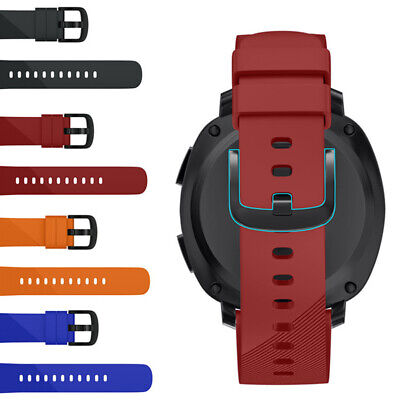 ALS_ CG_ Solid Color Silicone Band Watch Strap for Samsung Gear Sport Smart Brac