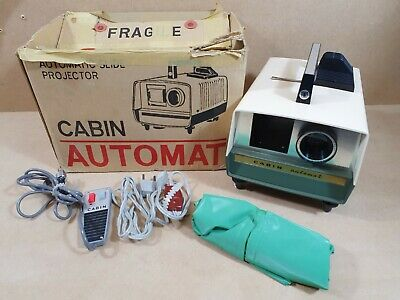 Vintage Cabin Automatic Slide Projector With Remote Boxed