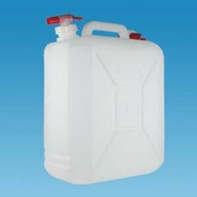 25 Litre Food Proof Jerry Can And Tap Water Container  Motorhome Caravan Camping