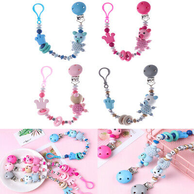 Toys Cute Infant Non-toxic Pacifier Chain Soother Dummy Clips Baby Teething