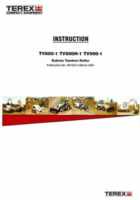 PDF Download Terex Operators Instruction TV800-1 TV800H-1 TV900-1 Tandem Roller