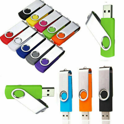 Swivel Flash Memory Stick Pen Drive U Disk USB 2.0 Thumb Drive Flash Drive Lot