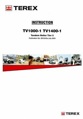 PDF Download Terex Operators Instruction TV1000-1 TV1400H-1 Tandem Roller Manual
