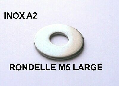 RONDELLE M5 x 16 SERIE LARGE INOX A2