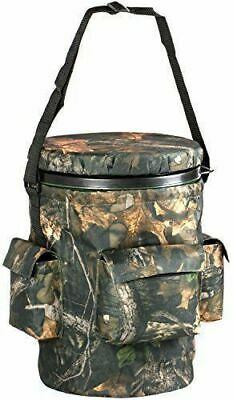 Camouflage Swivel Bucket Seat With Pockets Padded Cushioned Fishing Hunting