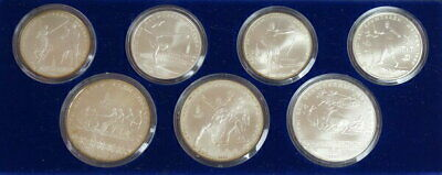 1980 Russian Moscow Olympics Silver Coin Proof 7 Types Set From Japan Mint F9