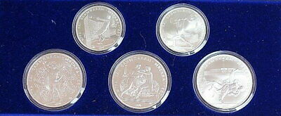1980 Russian Moscow Olympics Silver Coin Proof 5 Types Set From Japan Mint F8