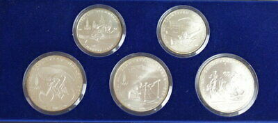 1980 Russian Moscow Olympics Silver Coin Proof 5 Types Set From Japan Mint F6
