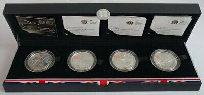 1964 United Kingdom London Olympics 5 Pound Silver Coin 4 Types From Japan G6
