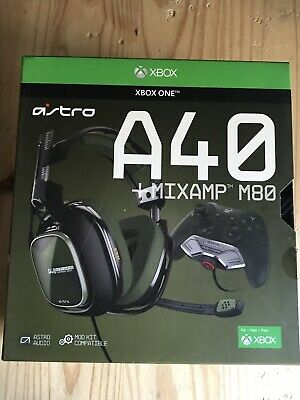 ASTRO A40 HEADSET + MIXAMP M80 Blue Headband Headsets for