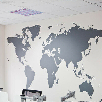 WANDTATTOO WELTKARTE WORLD Map Motiv II detailliert
