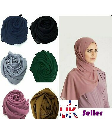 NEW JERSEY STRETCHY SCARF QUALITY MAXI HIJAB SHAWL WRAP PLAIN SARONG UK SELLER