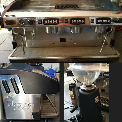 Professional Expobar 3 Group Steam Coffee Shop Bar Machine With grinder
