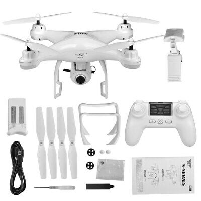 SJRC Gps 1080p Drone WHITE 3 batteries fly more combo