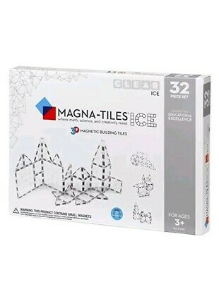 Magna-Tiles Ice 32 Piece Set New Ages 3+ 3D Magnetic Building Tiles Valtech Stem