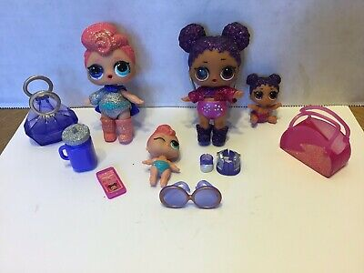 LOL Surprise Doll Set PURPLE QUEEN & STARDUST Big & lil Sisters